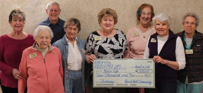 RiverWoods Manchester Independent Living residents raise money for Salvation Army Kids' Cafe Manchester NH New Hampshire