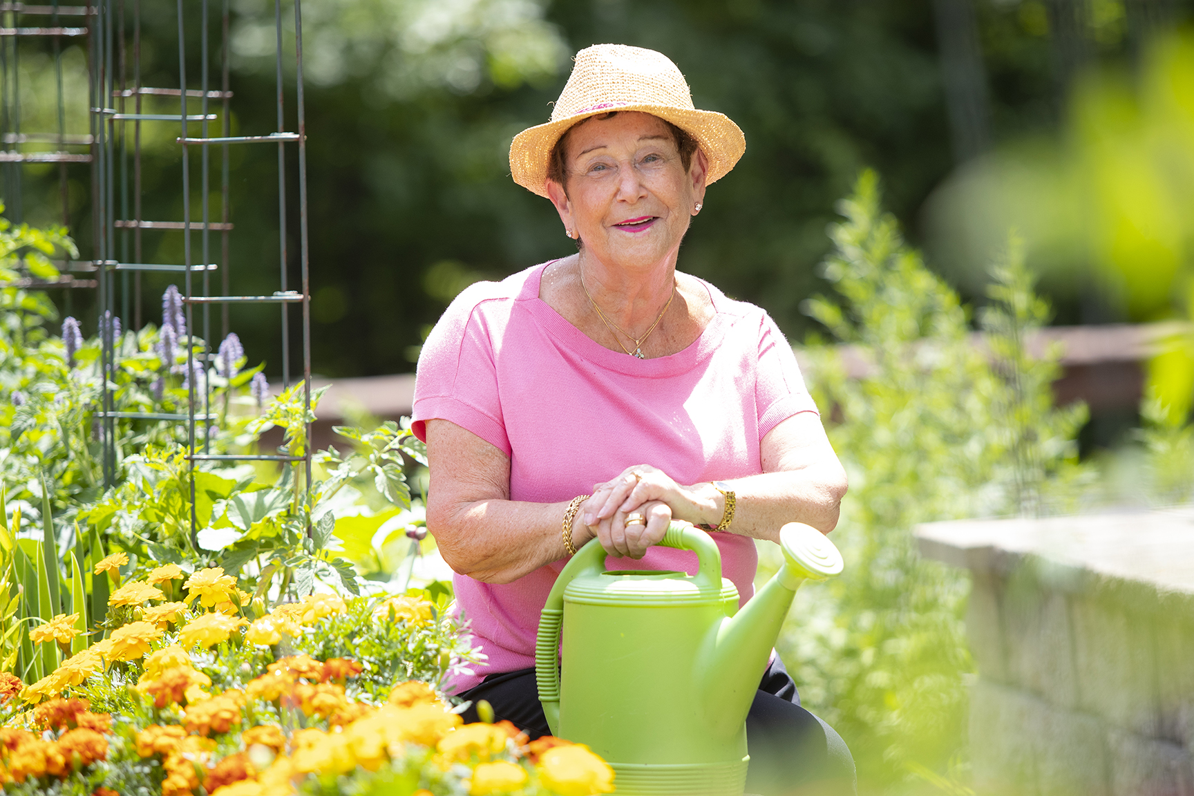 Independent Living Resident gardening in RiverWoods Manchester, Manchester. NH